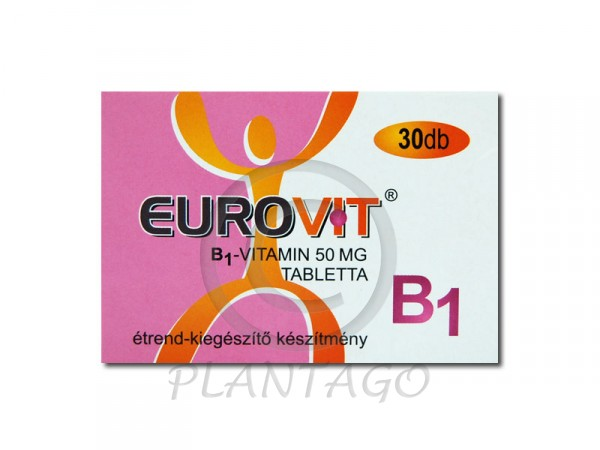 Eurovit B1 vitamin 50mg tabletta 30x
