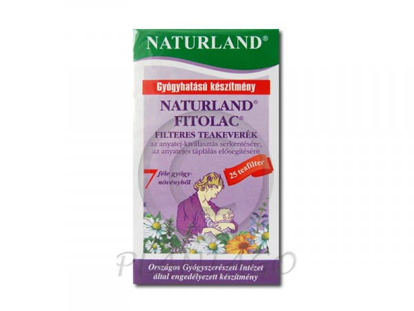 Naturland Fitolac tea filteres 25x1,5g